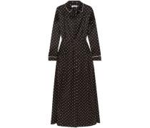 Dufort Polka-dot Silk-blend Satin Maxi Dress Black