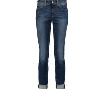 Cristen Low-rise Skinny Jeans Mittelblauer Denim