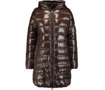Quilted Shell Down Coat Dunkelbraun