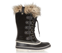Joan Of Arctic Waterproof Suede And Leather Boots Schwarz