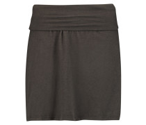 A-line Cotton-blend Jersey Skirt Dunkelgrau
