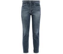 W3 Distressed High-rise Slim-leg Jeans