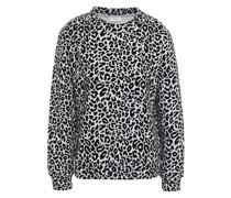 Flocked Cotton-blend Fleece Sweatshirt