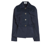 Redford oversized twill-paneled shell jacket