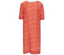 Floral-print Cloqué Dress