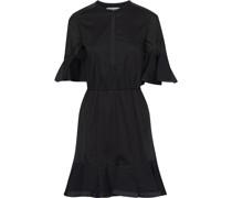 Frankie Satin-trimmed Cotton-broadcloth Mini Dress