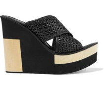 Julia woven leather wedge sandals