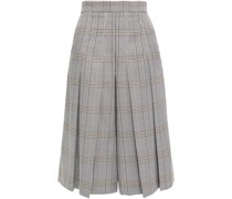 Pleated Prince Of Wales Checked Jacquard Culottes