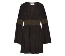 Laurel embellished crinkled silk-chiffon mini dress