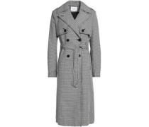 Houndstooth cotton trench coat