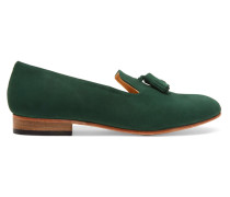 Gaston Nubuck Loafers Grün