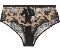 Cora cutout Leavers lace and chiffon briefs