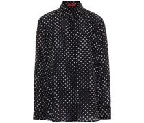 Polka-dot Silk Crepe De Chine Shirt