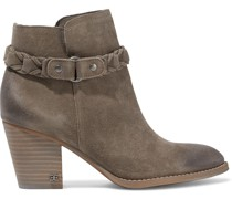 Minetta Burnished Suede Ankle Boots