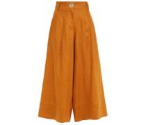 Varca Pleated Linen Culottes