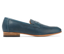 Penny Leather Loafers Petrol