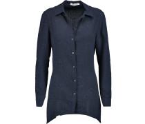 Matelassé Silk Shirt Rauchblau