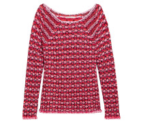 Marcel Textured-knit Sweater Rot