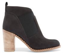 Nubuck Ankle Boots Schwarz