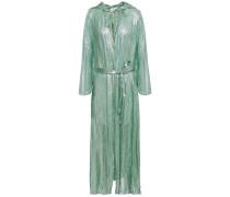 Silk-blend Lamé Hooded Jacket