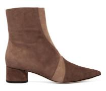 Zero Two-tone Suede Ankle Boots Champignon
