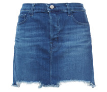 Bonny Frayed Faded Denim Mini Skirt
