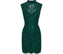 Romie open-back corded lace mini dress