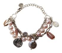 Silver-tone Multi-stone Bracelet