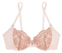 Venetian Embrace corded lace and satin contour bra