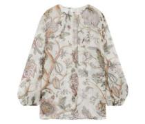 Karmic printed silk blouse