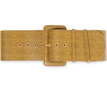 Snake-effect Leather Belt