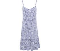 Embellished Printed Stretch-jersey Mini Dress