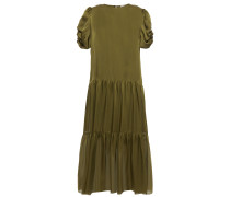 The Winona Ruched Silk-charmeuse Midi Dress