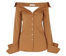 Amaree Schulterfreies Oberteil aus Popeline aus Einer Baumwollmischung mit Cut-outs