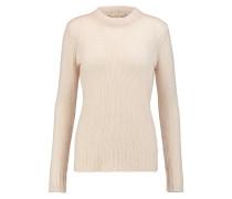 Open-knit Cashmere And Silk-blend Sweater Ecru