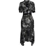 Maria Asymmetrisches Kleid aus Georgette mit Print und Schluppe