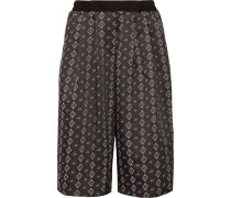 Motley Stretch-jacquard Culottes Anthrazit