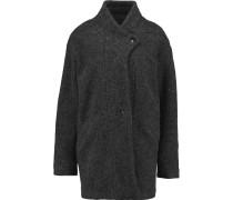 Bina Knitted Coat Dunkelgrau