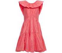 Ruffled Gathered Cotton And Silk-blend Taffeta Dress