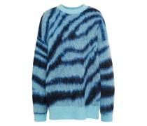 Brushed Zebra-jacquard Sweater