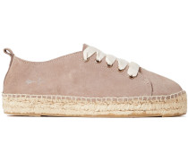 Suede Platform Espadrille Sneakers