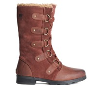 Leather-paneled Suede Snow Boots