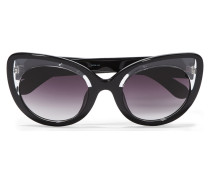 + Linda Farrow Cat-eye Acetate Sunglasses Schwarz