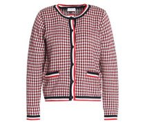 Checked cotton cardigan