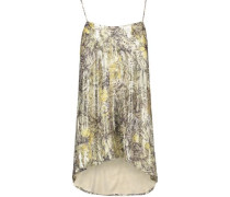 The Admire metallic printed silk-blend crepe de chine camisole