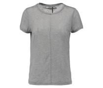 Jaden Slub Stretch-jersey T-shirt Hellgrau