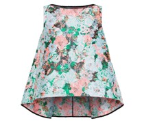 Joelle Metallic Floral-jacquard Top