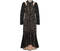 Guipure Lace And Tullle Dress Schwarz