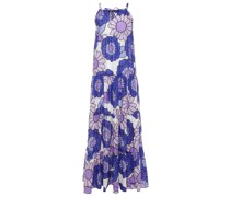 Dorothy Gathered Floral-print Cotton Maxi Dress