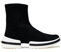 Sw-612 Stretch-suede High-top Sneakers